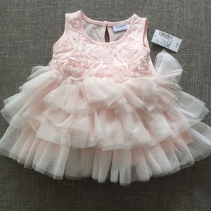 NWT Pink tulle rosette dress with bloomers
